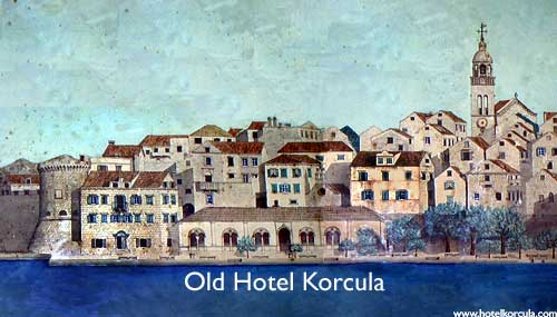 Hotel Korcula in the old times
