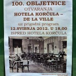 100 anniversary of Hotel Korcula 2012 (poster)