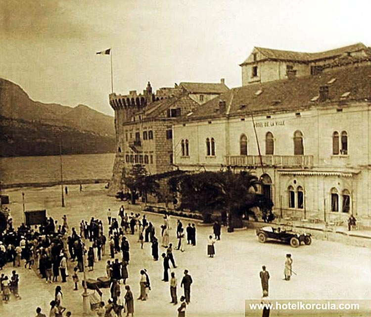 Hotel Korcula de la Ville, in early 1940s