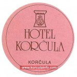 Hotel Korcula Luggage Label from 1970s