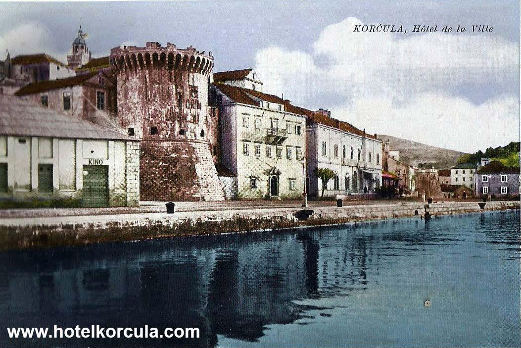 Hotel de la Ville Korcula - Postcard (1925)