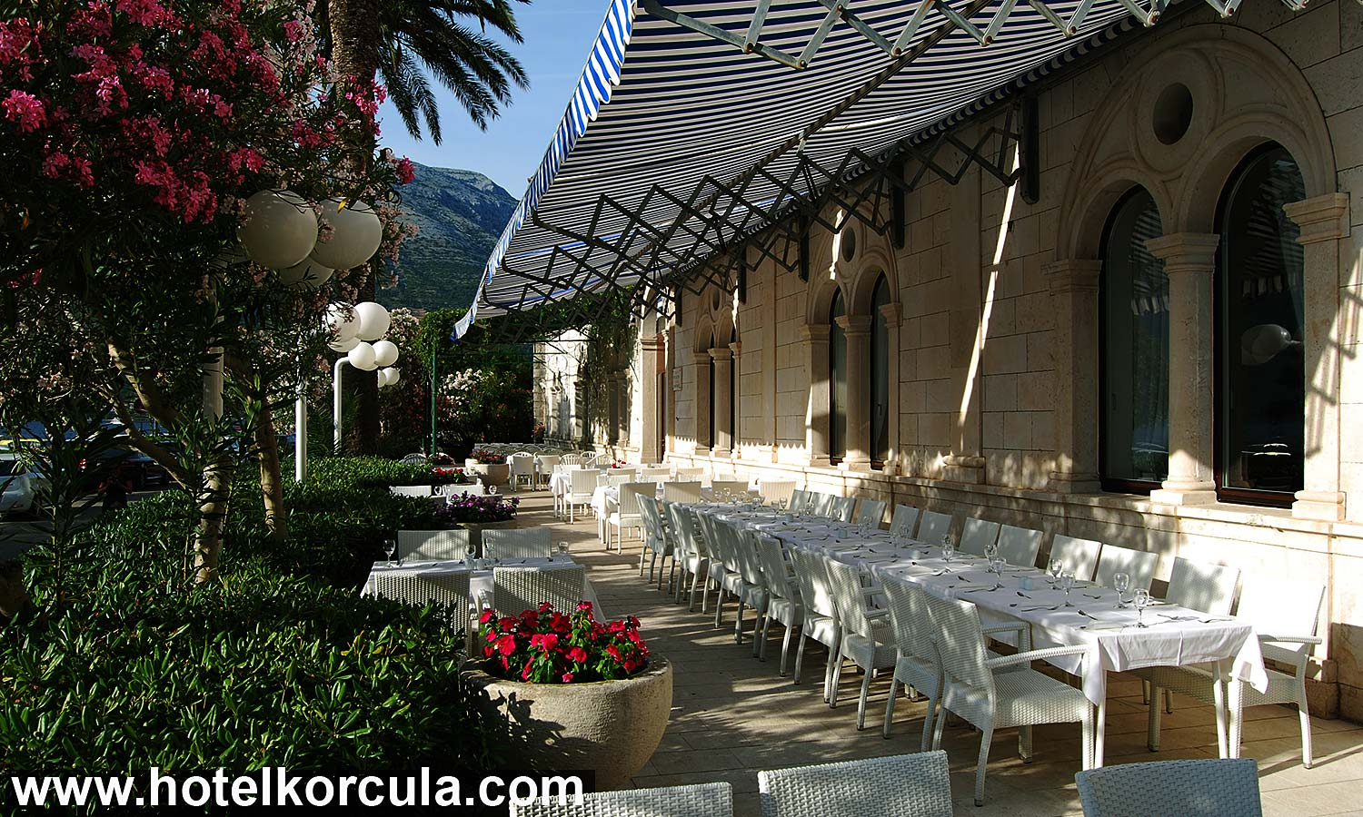 Terrace at Hotel Korčula De La Ville (September 2015)