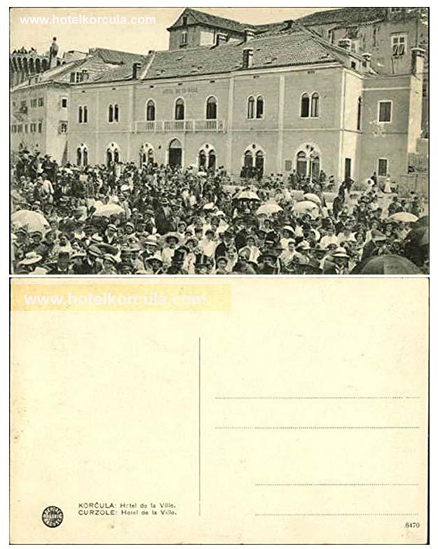 postcard-hotel-korcula-dela-Ville1920s